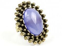Kobaltowy pierścionek vintage Sprawdź więcej na www.carlena.pl