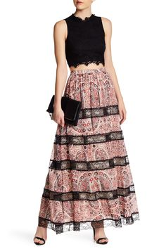 Hetty Paisley Print Maxi Skirt