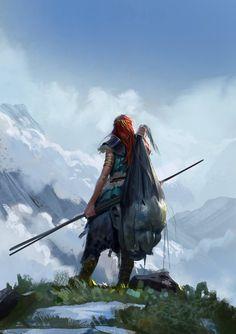 Fierce Lady Warriors: dtk-womenwarriors: ART BY EVEN MEHL AMUNDSEN aka Mischeviouslittleelf