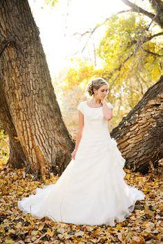 Modest Wedding Dress | Ruffles | Apostolic | LDS | Simply Elegant | Fort Mill SC | http://simplyelegantforyou.com/dress_display.php?id=800