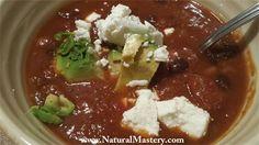 Smoked Habanero Pork Belly and Butternut Chili  Spicy, smokey, savory and slightly sweet! Gluten and Dairy Free www.NaturalMastery.com