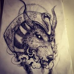 ANUBIS! #sketch #tattoosketch