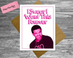 Drake Card Thank You Best Friend 21st 30th Happy by PinkyPinkPaula, $4.95