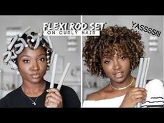 Why your flexi rods on natural hair don't look good? Here are some great ways to get lovely curls using flexi rods on natural hair! If you want your hair . Flexi Rod Curls, Flexi Rods, Heatless Curls, Natural Curls, Natural Hair Care, Natural Hair Styles, Natural Hair Bangs, Natural Beauty, Au Natural