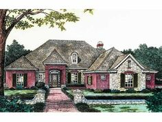 Eplans French Country House Plan - French Country Elegance - 2424 Square Feet and 4 Bedrooms(s) from Eplans - House Plan Code HWEPL06786