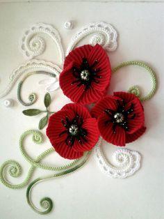 örgü çiçek modelleri