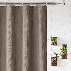 lamont home ash shower curtain in taupe