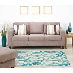 House of Hampton Pickford Hand-Tufted Ocean Area Rug