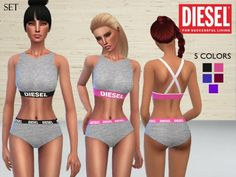 The Sims Resource: Diesel Lingerie by Puresim • Sims 4 Downloads