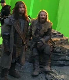 Does anyone else think that Fili looks like he's very cutely yawning? :)