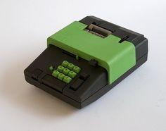 Rare Vintage Summa 19 desktop calculator, OLIVETTI, designed by Ettore Sottsass, 1970