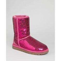 "Ugg® Australia ""Sparkle"" Short Boots ($190) ❤ liked on Polyvore"