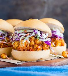 Tofu and Chickpea BBQ Sandwiches (vegan)