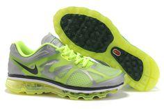 Frauen's Nike Air Max 2012 Silber/grün/schwarz