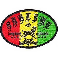 Sublime Iron-On Patch Rasta Lou Logo Ska Punk Band New