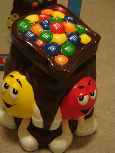 Benjamin & Medwin M&M Cookie Jar 2002 Good In Box