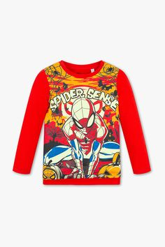 3f6f633b Kids - Spider-Man - long sleeve T-shirt - organic cotton - multicolour