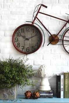 20 Clock Decoration Ideas For Home Decor - HomelySmart Diy Clock, Clock Decor, Wall Decor, Clock Ideas, Recycled Furniture, Diy Furniture, Decorating Tips, Interior Decorating, Aztec Decor