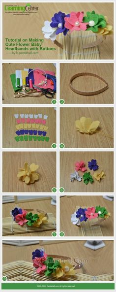 Tutorial on Making Cute Flower Baby Headbands ... | Jewelry Making Tu�� by wanting