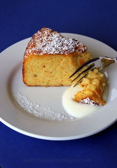 Diary of a Ladybird: Orange, cardamom and almond cake with orange-blossom yoghurt 300 grams almond flour= 3 cups 250 grams of caster sugar = cups Gluten Free Cakes, Gluten Free Desserts, Just Desserts, Almond Flour Cakes, Almond Flour Recipes, Cake Flour, Baking Recipes, Cake Recipes, Dessert Recipes
