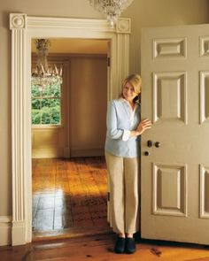 Take a tour with Martha of her previous Connecticut home, Turkey Hill.The front door was painted green at one time.