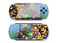 Super Mario Galaxy PSP 3000 cover for PSP 3000 console. Choose your favorite design from a huge range of PS vita covers collection for PSP 3000 console. Xbox One Skin, Console Styling, Ps4 Skins, Psp, Super Mario, Games To Play, Decal, Sticker, Cover