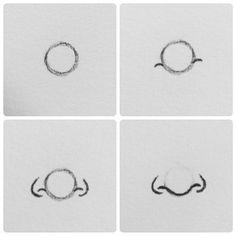 #Draw #desenhos #desenho #drawing #skatch #esboço #lápis #borracha #rascunho #nariz #círculo ...