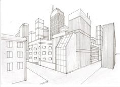 Two Point Perspective City by ~WhiteKnightx5 on deviantART