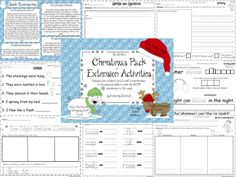 """Jan Brett's Christmas pack of extension activities includes text evidence, text to self, comprehension, and foundational skills to meet the CCSS in a fun way. We explore four books: """"Who's That Knocking on Christmas Eve?"""", """"The Night Before Christmas"""", """"The Twelve Days of Christmas"""", and """"The Wild Christmas Reindeer"""". *adjective puzzle fun *rhyming words  *verbs *comprehension  *vocabulary *writing: text to self and opinions *character, setting, and events *Venn diagrams and a REINDEER…"""