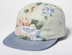 """THE QUIET LIFE """"Chambray Dot Floral"""" 5-Panel Cap Pack"""