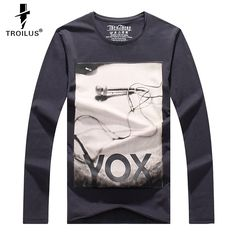 Find More T-Shirts Information about Troilus 2016 New Fashion Men T shirt Print Hip Hop Tshirt Autumn Spring Mens Long Sleeve T shirt Thenthere Brand Slim Tops tees ,High Quality top 10 bass guitar,China tee white Suppliers, Cheap tee shirt iron man from Troilus Flagship Store on Aliexpress.com