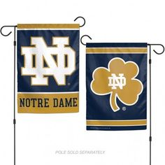 Notre Dame Fighting Irish Flag 12x18 Garden Style 2 Sided