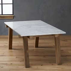 Riviera Rectangular Marble Top Dining Table contemporary outdoor tables
