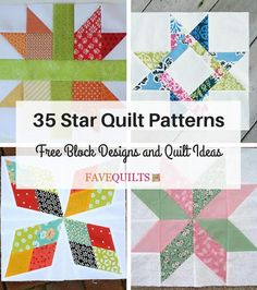 Star quilt patterns are the quintessential patchwork quilt designs. They are incredibly versatile, and fairly easy to piece. Check out our list of 35 Star Quilt Patterns: Free Block Designs and Quilt Ideas + 5 Free Bonus Patterns for all the star qui Beginner Quilt Patterns, Barn Quilt Patterns, Quilting For Beginners, Quilting Tutorials, Pattern Blocks, Quilting Projects, Quilting Designs, Quilting Ideas, Quilting Patterns