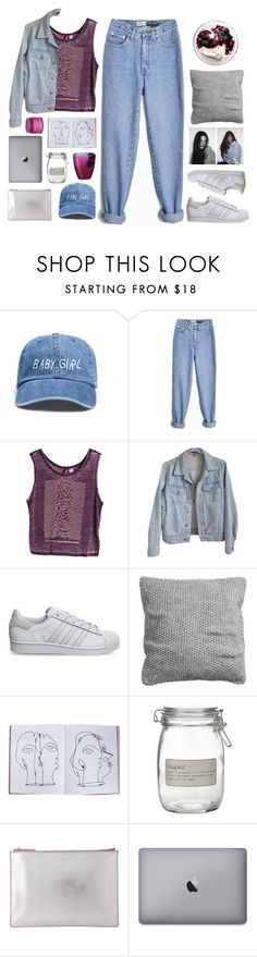 """Untitled #2654"" by tacoxcat ❤ liked on Polyvore featuring American Apparel, adidas, H&M, Assouline Publishing, J by Jasper Conran, Whistles and Sara Happ"