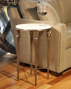 Pavel Accent Table, Brass Finish obeliskhome.com