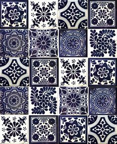 Blue & white tiles www.hadeda-tiles.com