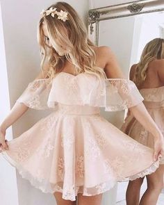 A-Line Homecoming Dress,Lace Prom Dress Short Prom Dresses,Short Pearl Pink Homecoming Dress,Lace Homecoming Dresses,short prom dress Pretty Dresses, Beautiful Dresses, Cute Homecoming Dresses, Lace Prom Dresses, Graduation Dresses, Pink Dresses, Wedding Dresses, Sexy Dresses, Grade 8 Grad Dresses