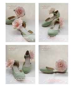 Sweet Camellia Series Princess Mint Green Flat Heel Round Toe Lolita Shoes | Know more >> http://www.wholesalelolita.com/sweet-camellia-series-princess-beige-flat-heel-round-toe-lolita-shoes-p-14329.html