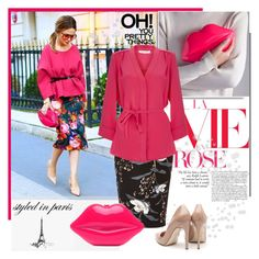 Styled in Paris - Pink Lips Clutch by bebushkaj on Polyvore featuring Goat, River Island and Rupert Sanderson