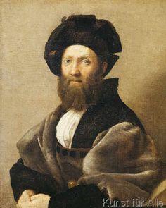 Raffael - Baldassare Castiglione / Raffael (72,0 x 90,0 cm)