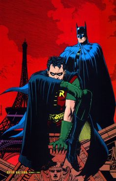 Robin and Batman by Brian Bollard...this was an issue I think either robin # something or right before Tim got his own series...this was somewhere in the 90s though...