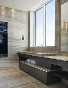 A Stunning Penthouse in Toronto | Interior Design by Alessandro Munge of Studio Munge | Photography by Evan Dion | Modern Sanctuary | Bathroom | Modern Bathroom | Bathroom Fixtures | Bathroom Tile