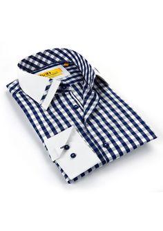 BRIO MILANO Plaid Collared Button Up Best Casual Shirts, Best Dress Shirts, Oxford Shirts, Mens Designer Shirts, African Clothing For Men, Man Shirt, Camisa Polo, Mens Fashion Suits, Collar Shirts