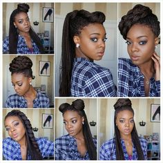 7 ways to style box braids