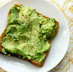 Today my lunch was avocado on toast.