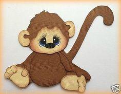 MONKEY GRABING FEET ANIMAL PAPER PIECING BY MY TEAR BEARS KIRA  PREMADE in Crafts, Scrapbooking & Paper Crafts, Paper Piecing | eBay
