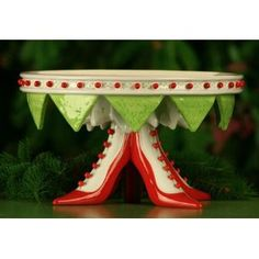 EPIC cake stand! > Krinkles High Heel Shoe Cake Stand by Patience Brewster