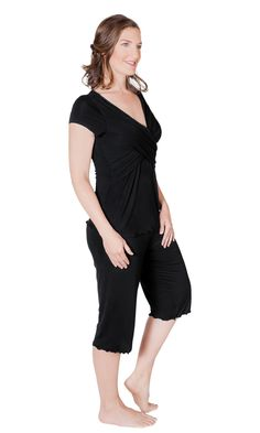 835269cd75702 The Davy Nursing   Maternity Ultra Soft Pajamas for Breastfeeding Moms  Nursing Pajama Set
