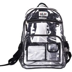 Clear PVC Backpack (2.031.575 VND) ❤ liked on Polyvore featuring bags, backpacks, chicnova, accessories, backpacks bags, clear bags, clear pvc bag, crystal clear bags et strap bag